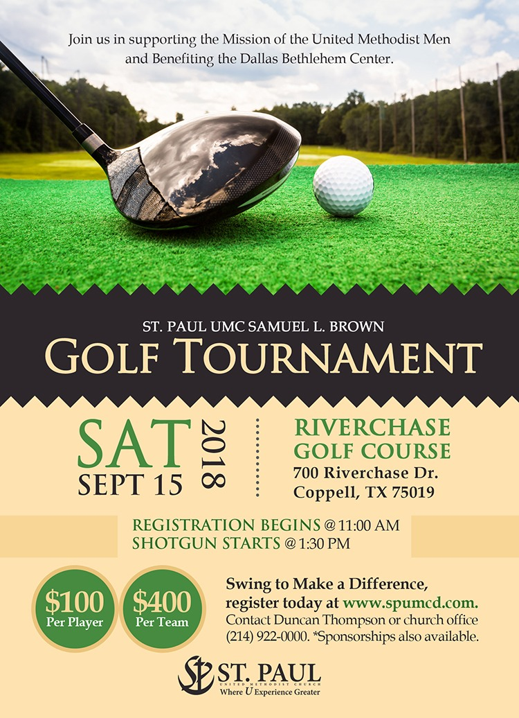 St. Paul golf tournament flyer